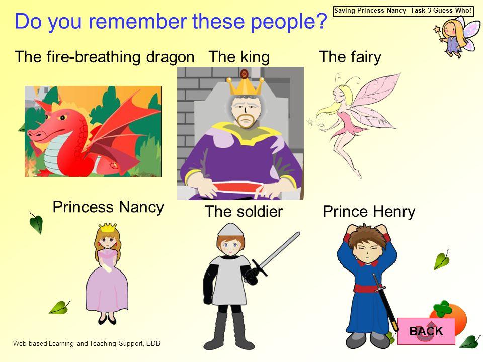 Saving Princess Nancy Task 3 Guess Who.