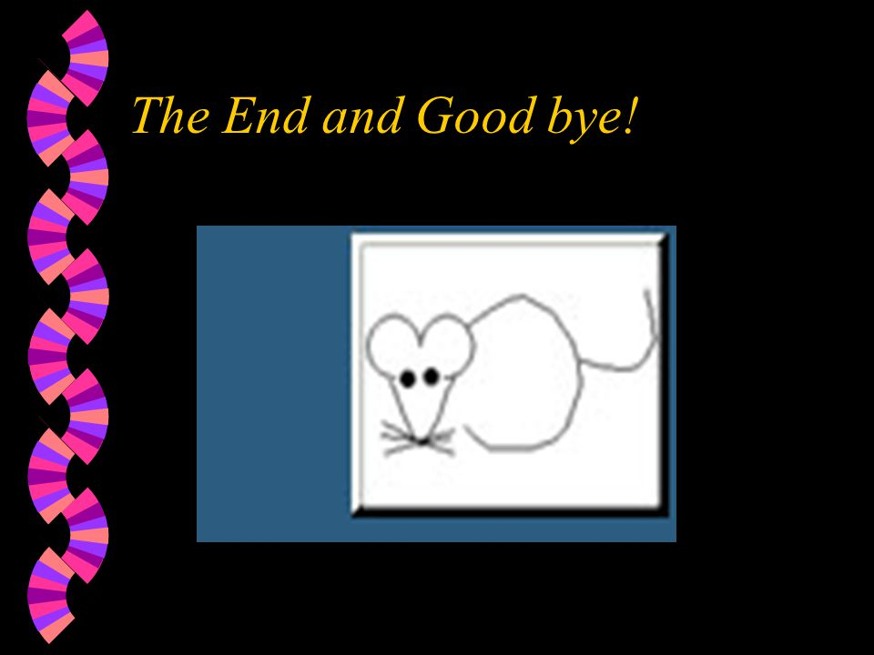 The End and Good bye!