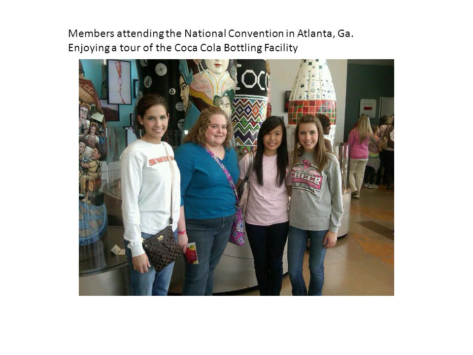 Members attending the National Convention in Atlanta, Ga.