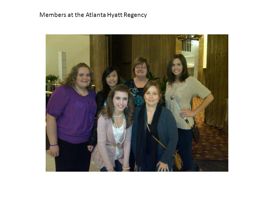 Members at the Atlanta Hyatt Regency