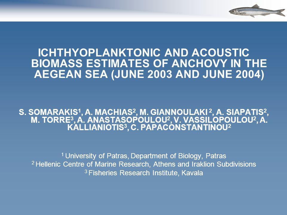 Comparison of Pelagic trawl – Purse seine samples Adult parameters – Stratum I *