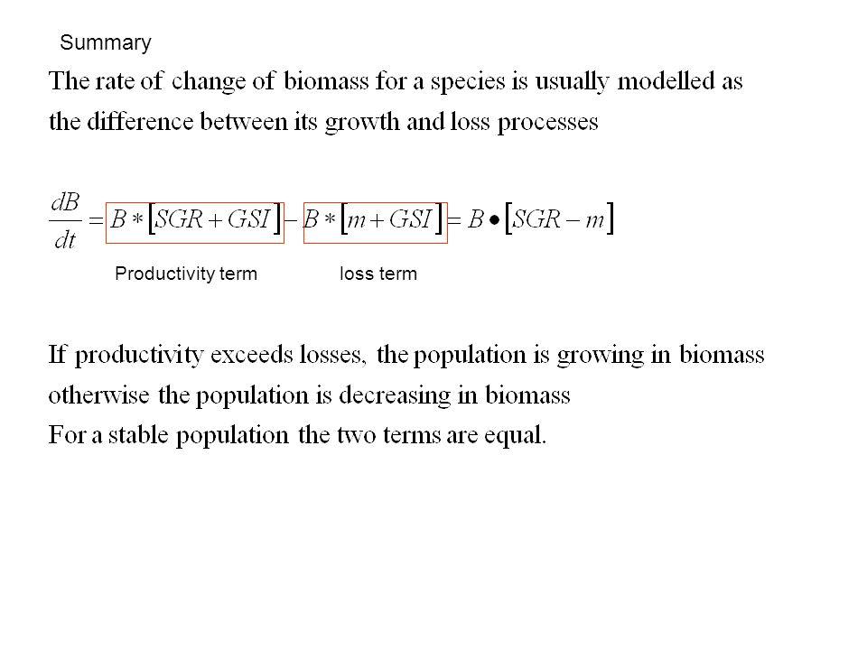 Productivity termloss term Summary
