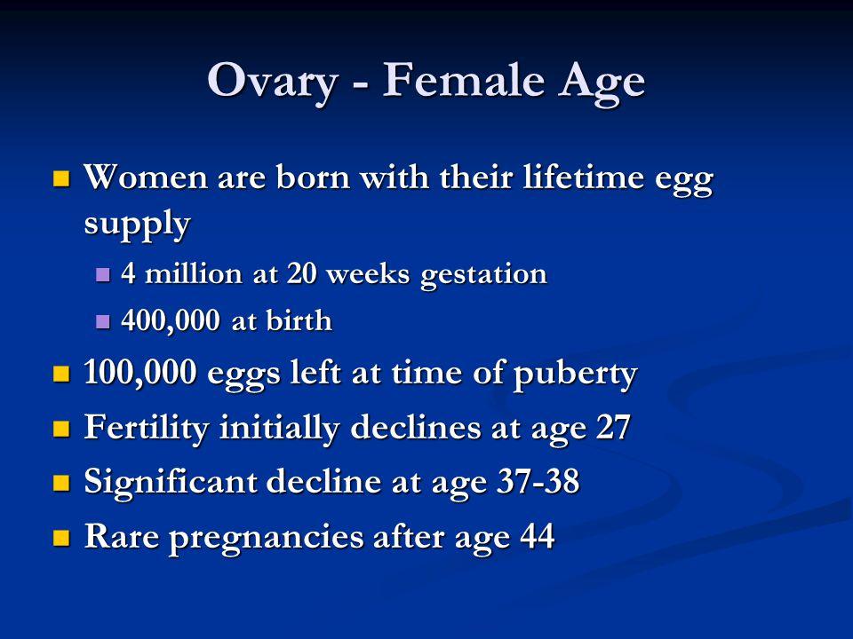 Causes of Female Infertility Ovary Ovary Tubes Tubes Uterus Uterus Cervix Cervix Hormones Hormones Chromosomes Chromosomes