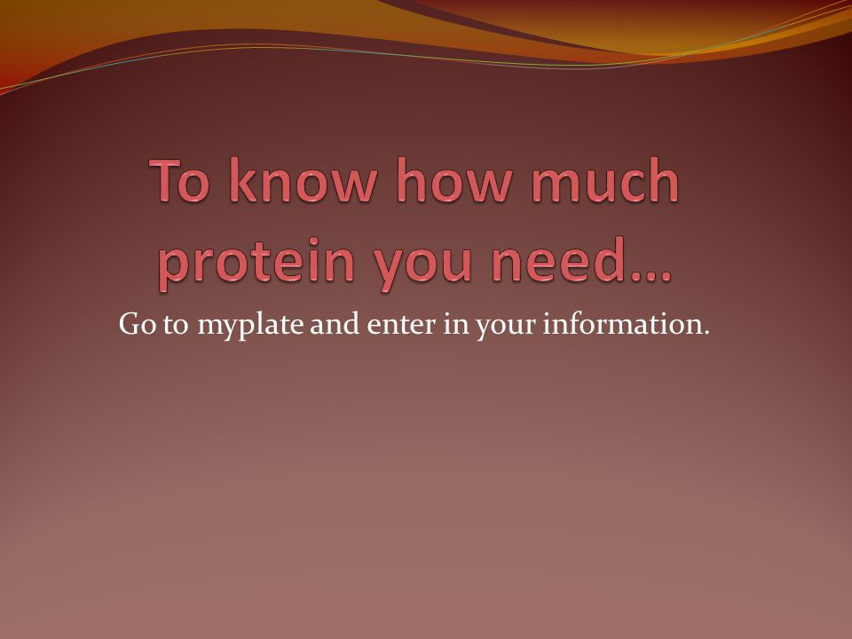 Go to myplate and enter in your information.