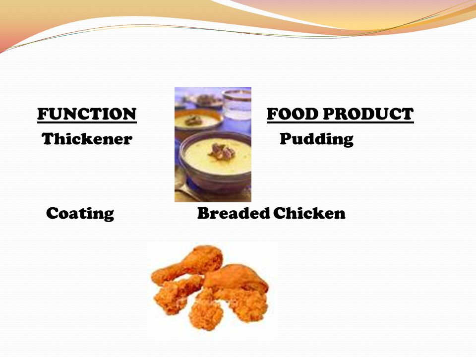 FUNCTIONFOOD PRODUCT Thickener Pudding Coating Breaded Chicken