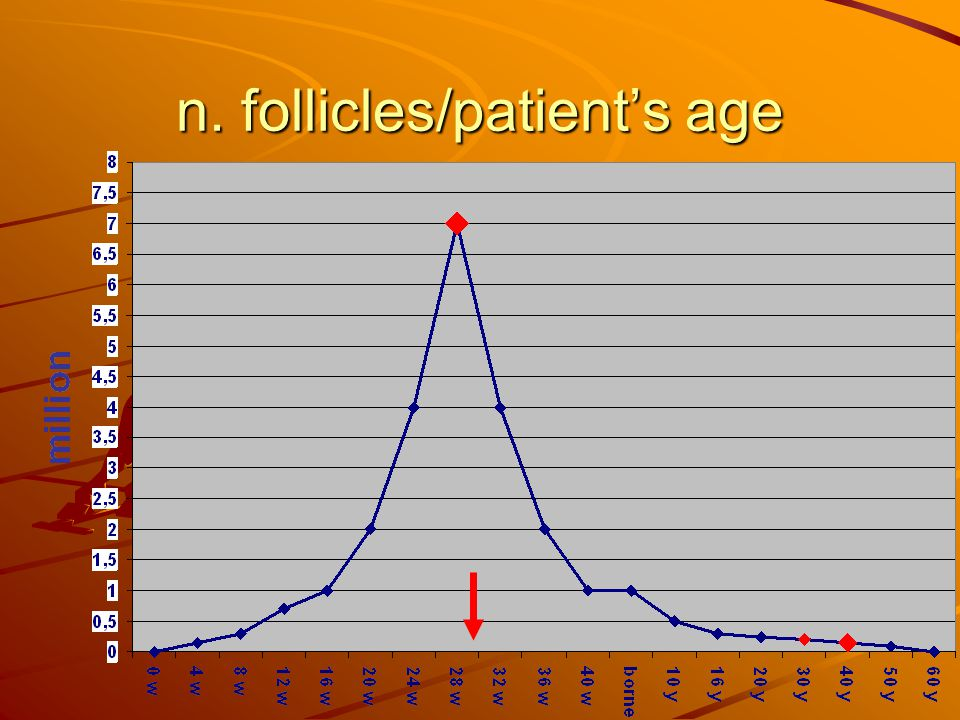 n. follicles/patients age