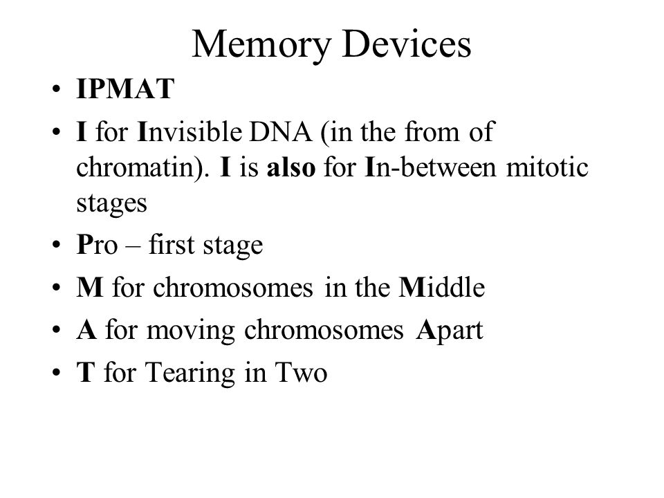 Memory Devices IPMAT I for Invisible DNA (in the from of chromatin).