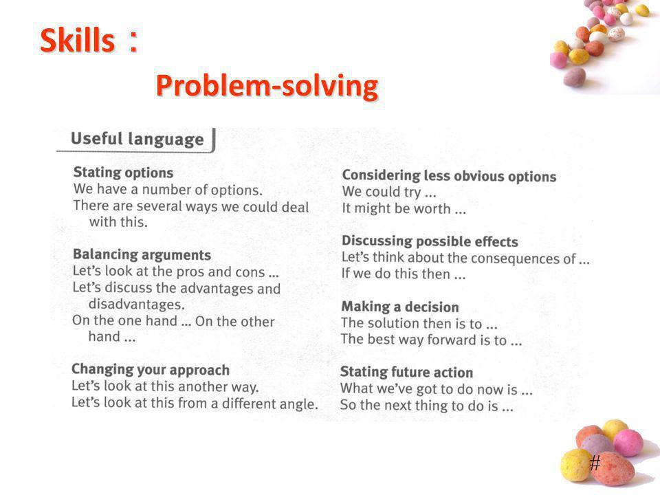 # Skills Problem-solving