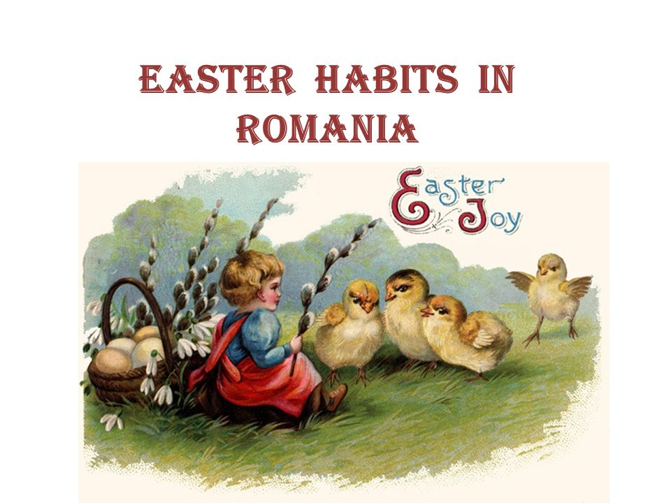 Easter habits in Romania