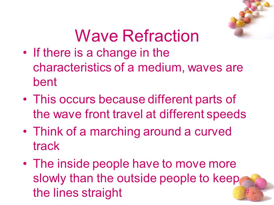 # Wave Reflection When a sound wave reflects from a surface we generate an echo Wave reflection from surfaces depends on the characteristics of the su