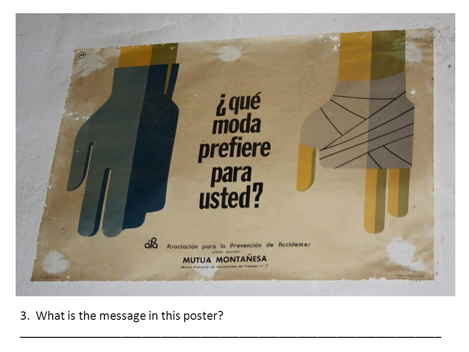 3. What is the message in this poster.