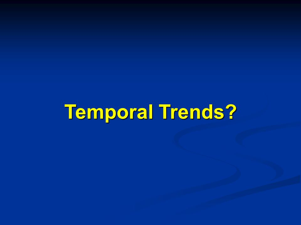 Temporal Trends?