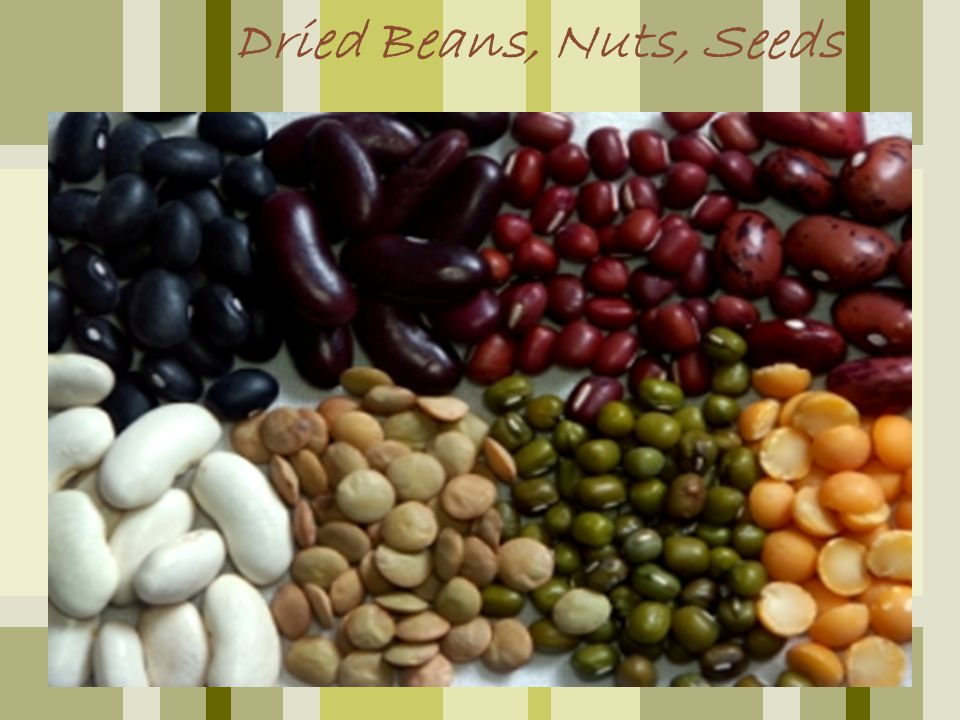 Dried Beans, Nuts, Seeds