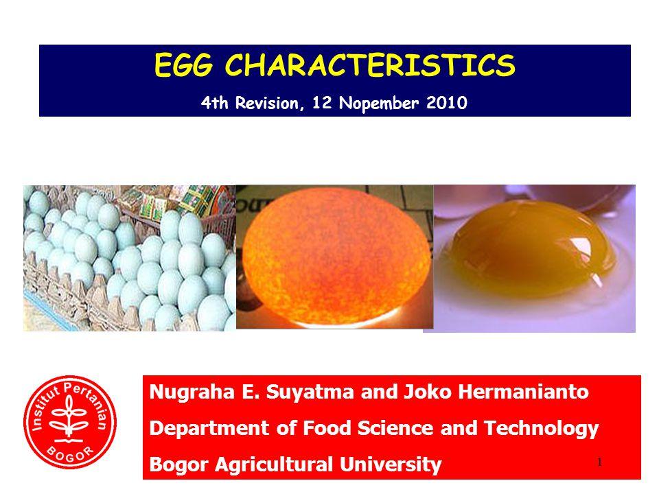 Shape Index of Egg Ideal shape (USDA) 42 Shape index of egg = A/B x 100 A = the biggest diameter (cm) B = The longest of length (cm)