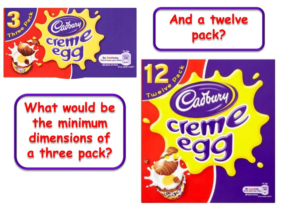 What would be the minimum dimensions of a three pack And a twelve pack