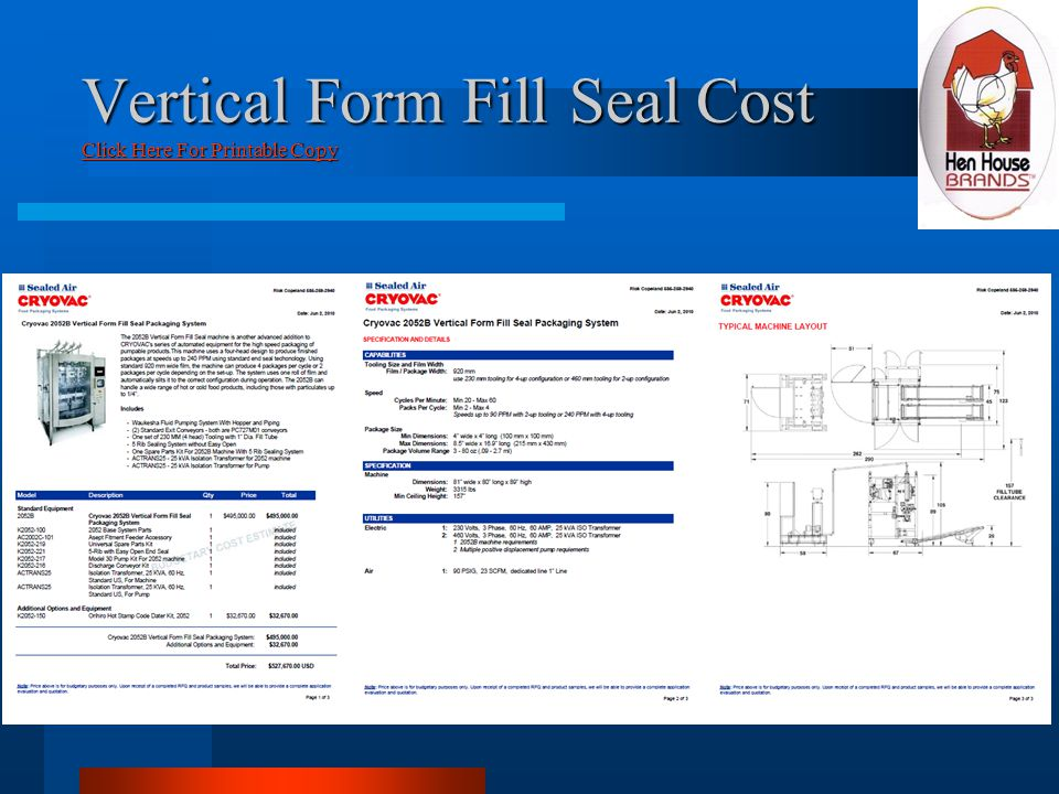 Vertical Form Fill Seal Cost Click Here For Printable Copy Click Here For Printable Copy Click Here For Printable Copy