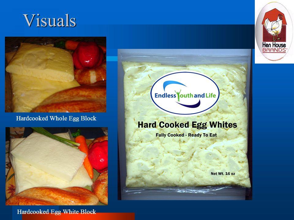 Visuals Hardcooked Whole Egg Block Hardcooked Egg White Block