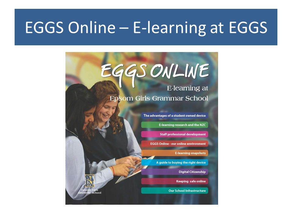 EGGS Online – E-learning at EGGS