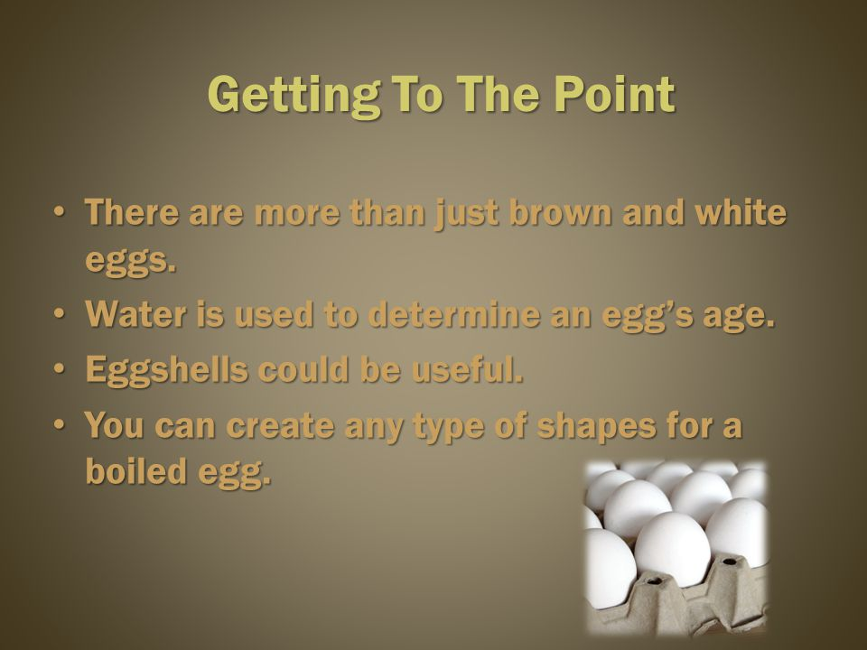 There are more than a hundred ways to prepare eggs.