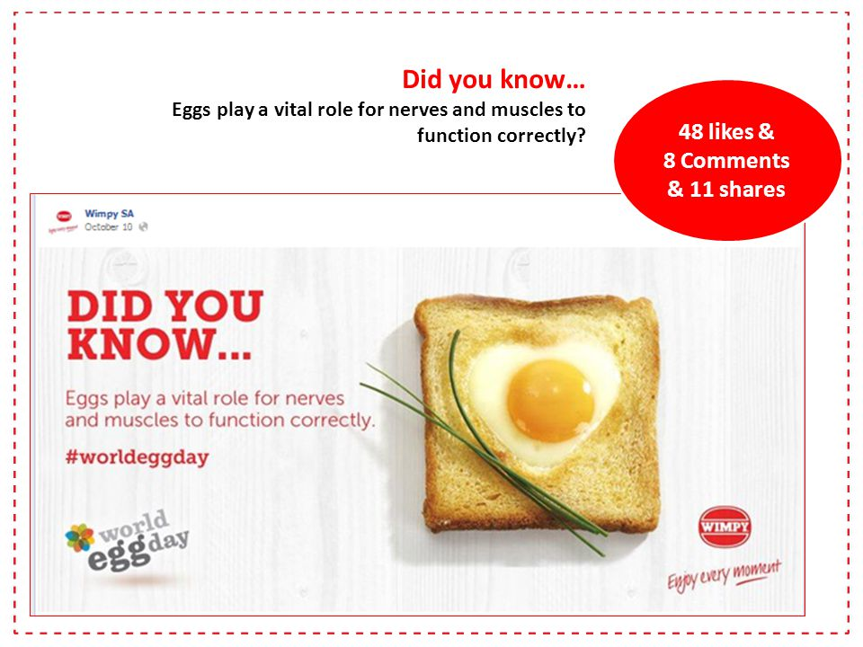 Did you know… Eggs play a vital role for nerves and muscles to function correctly.