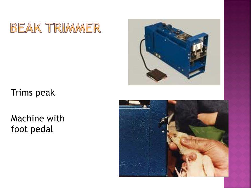 Trims peak Machine with foot pedal