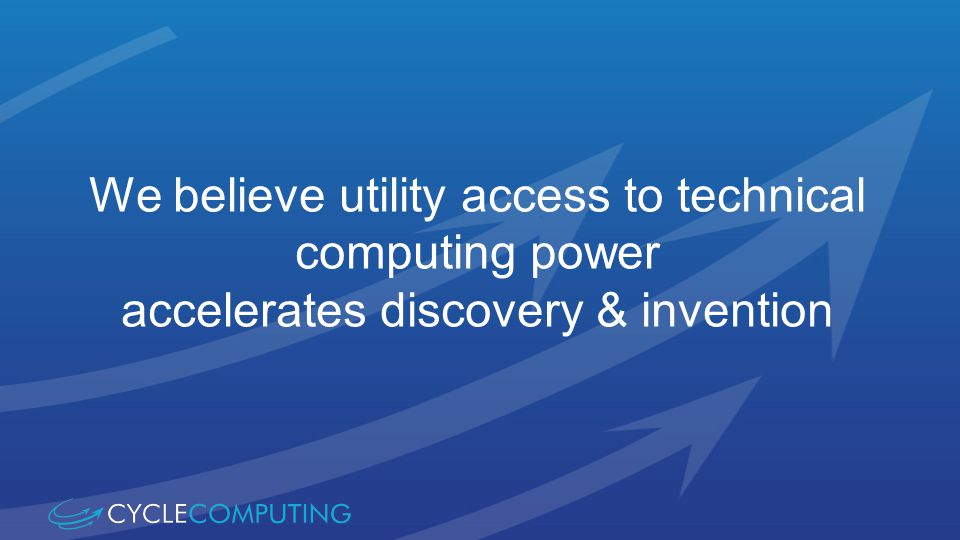 We believe utility access to technical computing power accelerates discovery & invention