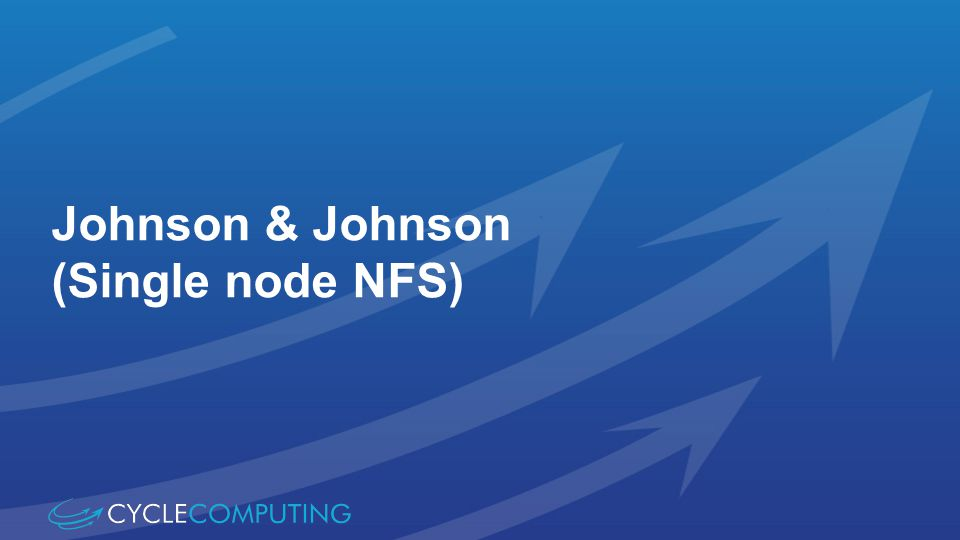 Johnson & Johnson (Single node NFS)