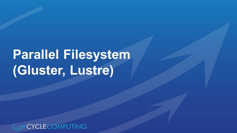Parallel Filesystem (Gluster, Lustre)