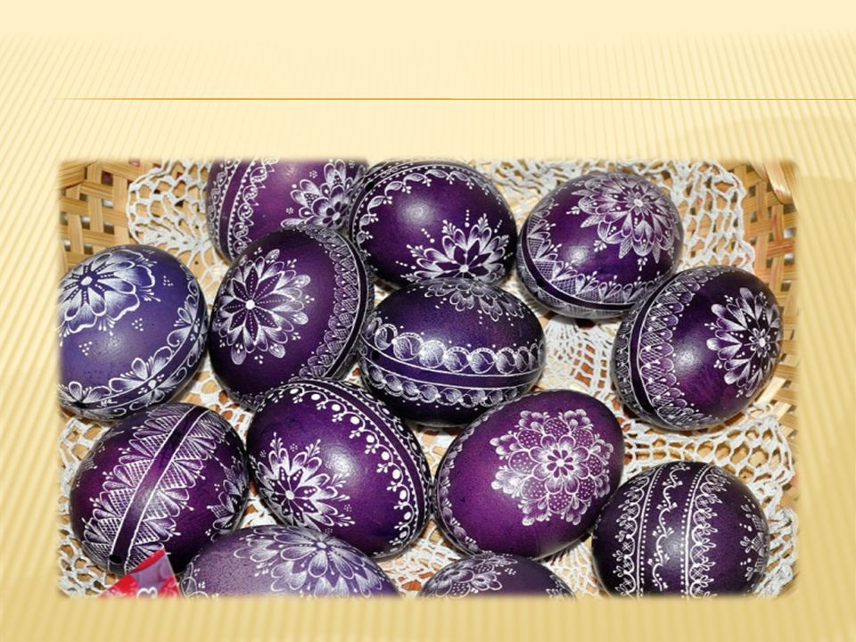 Creating patterns with wax is the second method commonly used by Lithuanians for decorating eggs.