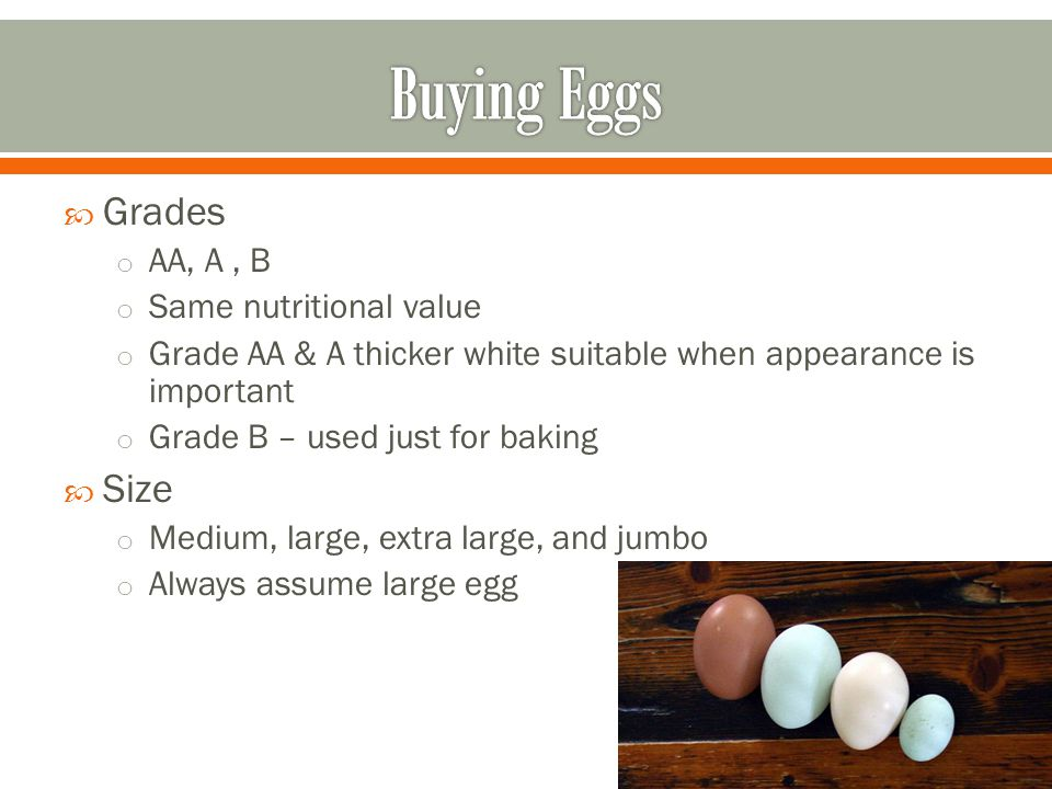 Highly perishable – place in frig right away Dont wash – removes protective coating and allows bacteria to enter Keep in original carton rather than tray in frig – door will be warmer than carton Shells are porous – they will pick up aromas of food in the frig o May lose quality after too much exposure Discard – dirty, cracked, or leaking eggs