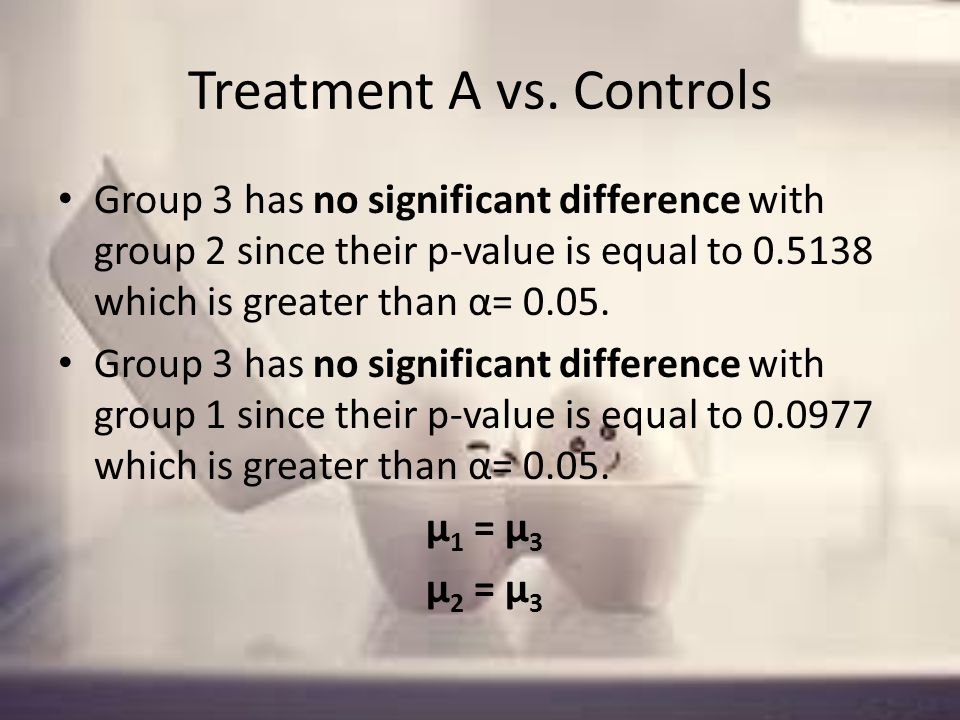 Treatment A vs.