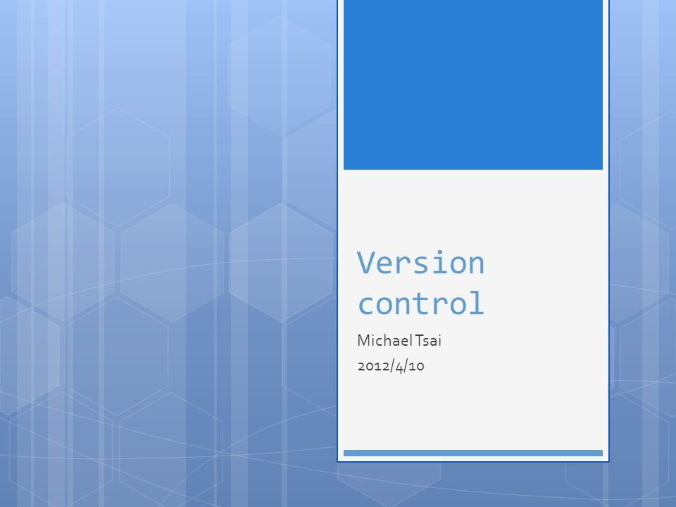 Reference http://betterexplained.com/articles/a-visual- guide-to-version-control/ http://betterexplained.com/articles/a-visual- guide-to-version-control/ http://www.ericsink.com/scm/source_control.ht ml http://www.ericsink.com/scm/source_control.ht ml http://betterexplained.com/articles/intro-to- distributed-version-control-illustrated/ http://betterexplained.com/articles/intro-to- distributed-version-control-illustrated/ 2