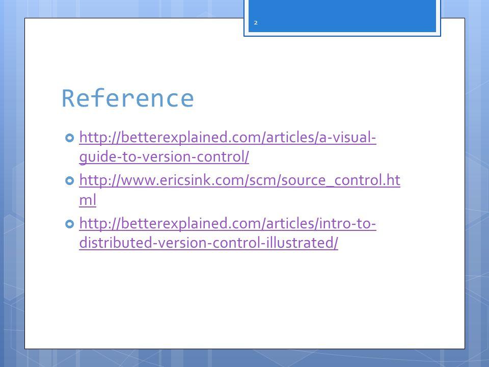 Version control Also called source control Other alias source configuration management source code management 3