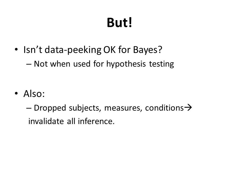 But. Isnt data-peeking OK for Bayes.