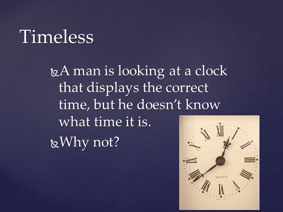 A man is looking at a clock that displays the correct time, but he doesnt know what time it is. A man is looking at a clock that displays the correct