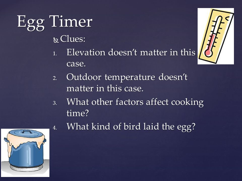 Answer: Answer: Some eggs are larger than others.