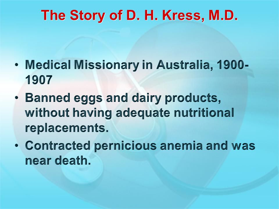 The Story of D. H. Kress, M.D.