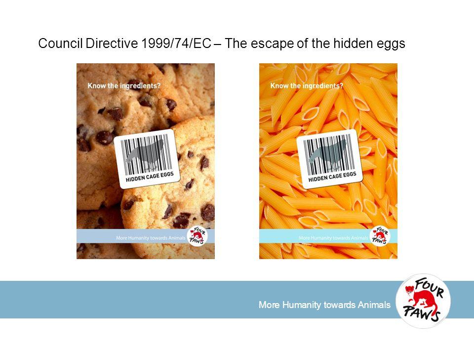 More Humanity towards Animals Council Directive 1999/74/EC – The escape of the hidden eggs