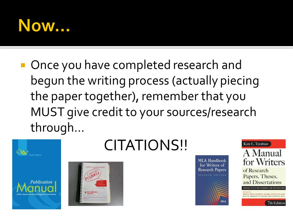 Generally, you use two types of citations: One: Short citations mixed into the text of your paper/project called: In- text, parenthetical, author/date, etc.