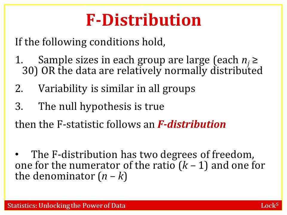 Statistics: Unlocking the Power of Data Lock 5 F-distribution