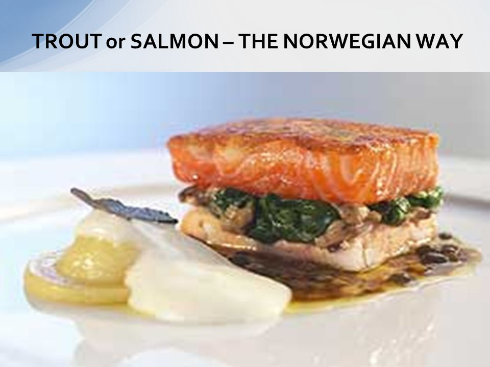 TROUT or SALMON – THE NORWEGIAN WAY