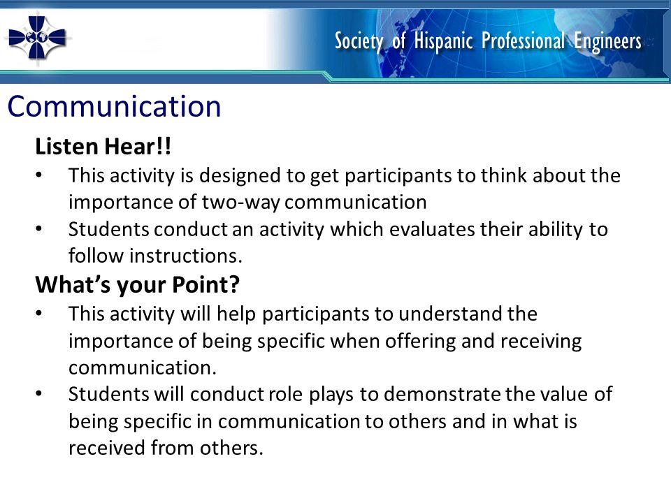 Communication Listen Hear!.