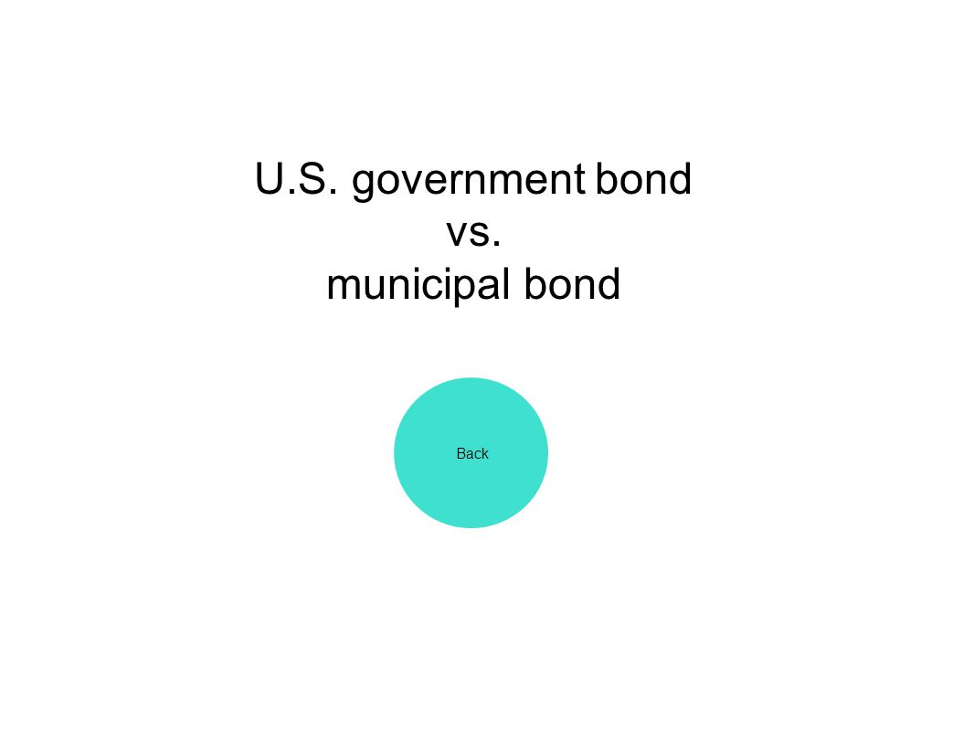 U.S. government bond vs. municipal bond Back