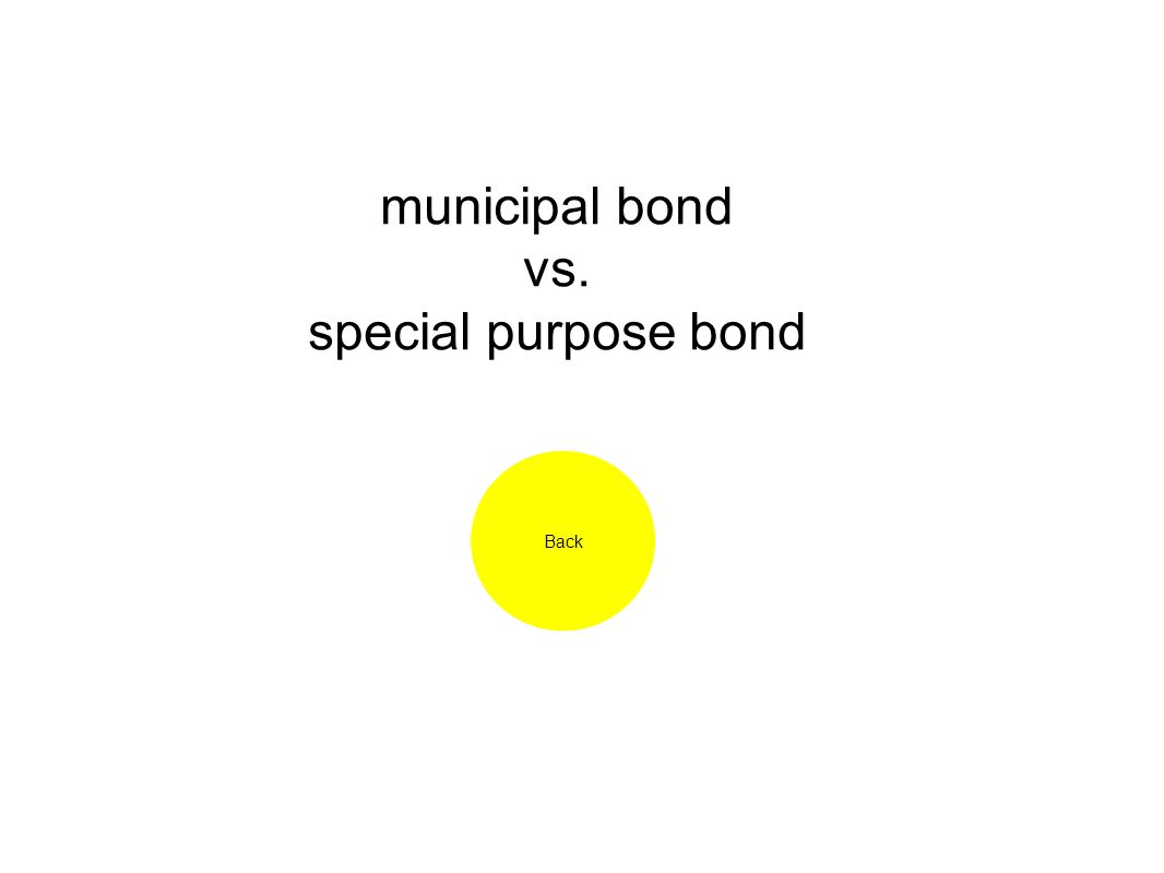 municipal bond vs. special purpose bond Back