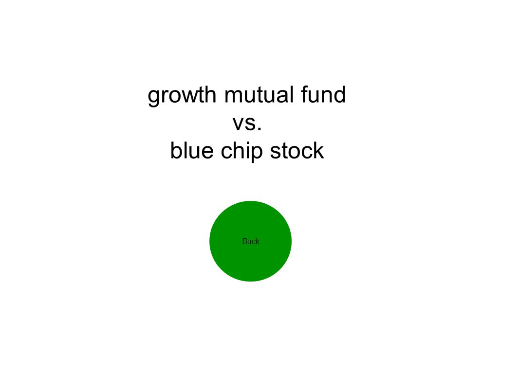 growth mutual fund vs. blue chip stock Back