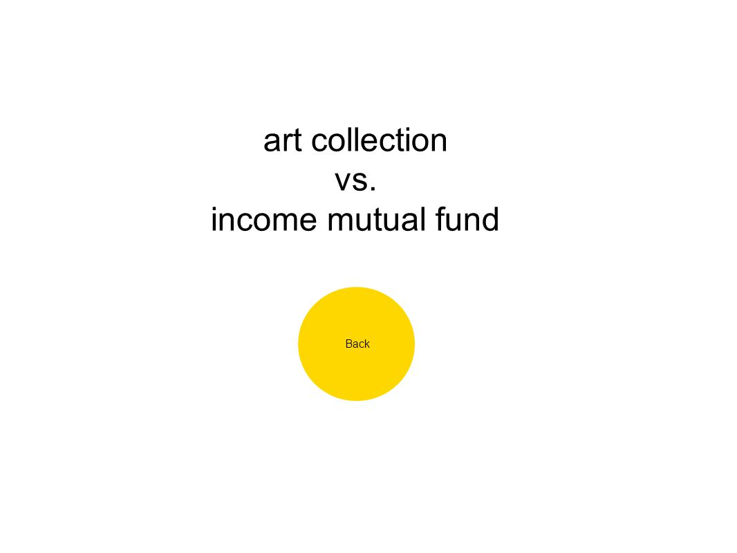 art collection vs. income mutual fund Back