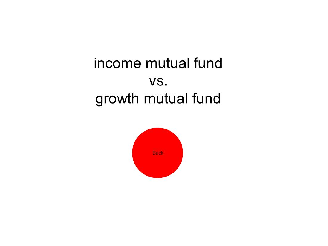 income mutual fund vs. growth mutual fund Back