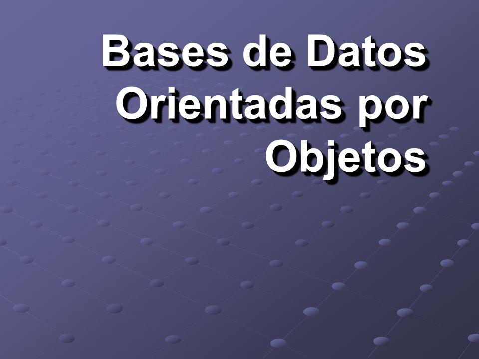 Introducción Conceptos Básicos RDBs vs. OODBs RDBs vs. OODBs en SIG Ejemplos Referencias