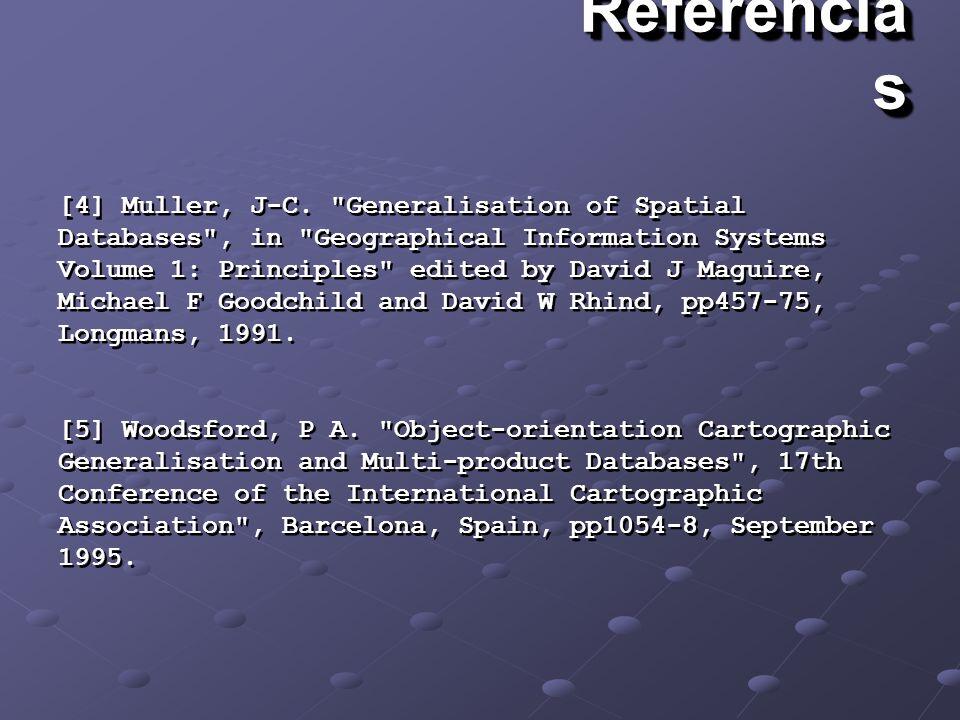 Referencia s [4] Muller, J-C.