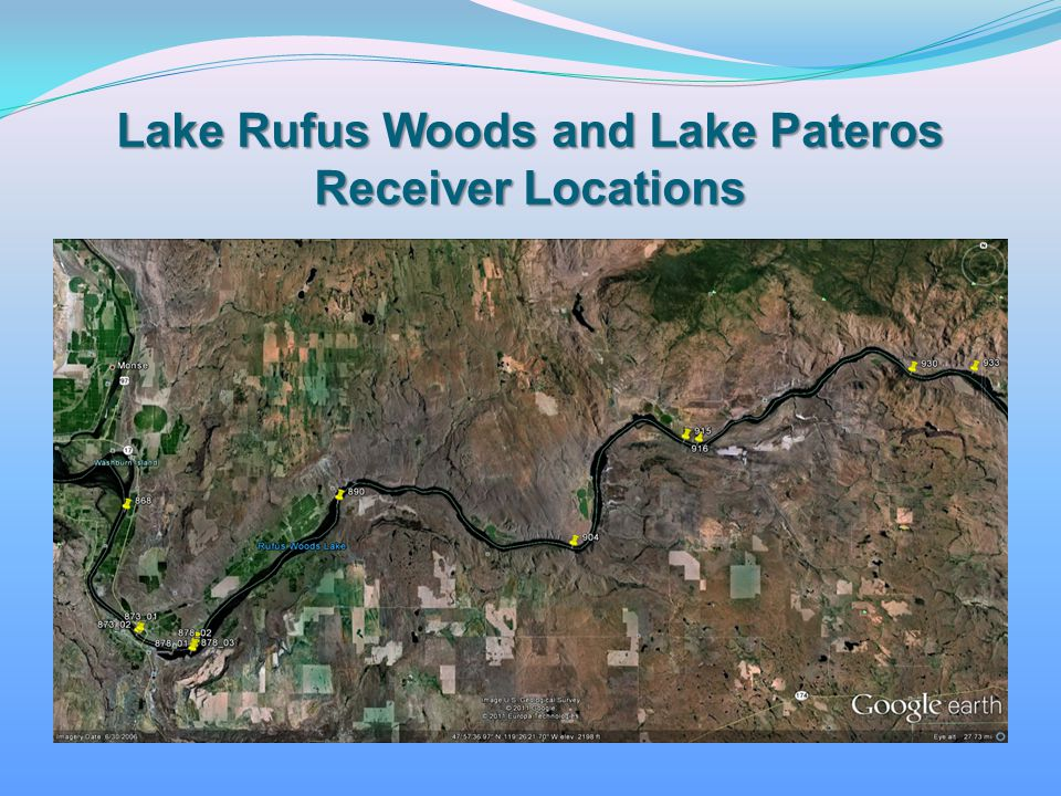 Lake Rufus Woods and Lake Pateros Receiver Locations